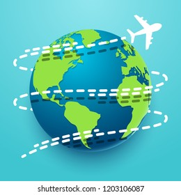 Time to travel explore the world with aircraft