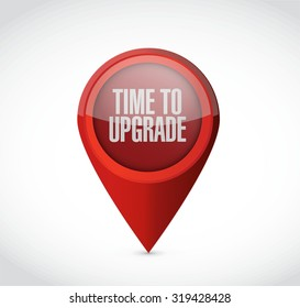 time to upgrade pointer sign concept illustration design graphic