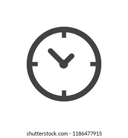 Time vector icon, stock vector illustration flat design style