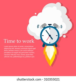 Time to work. Time is running out. Vector Design
