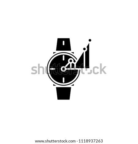 timekeeper black icon concept timekeeper flat stock vector royalty
