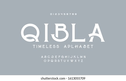 Timeless alphabet font. Awesome typeface a to z design vector.