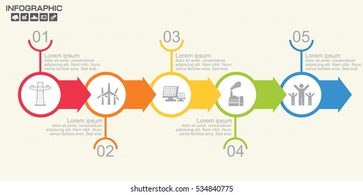 infographic business timeline process chart template のベクター画像