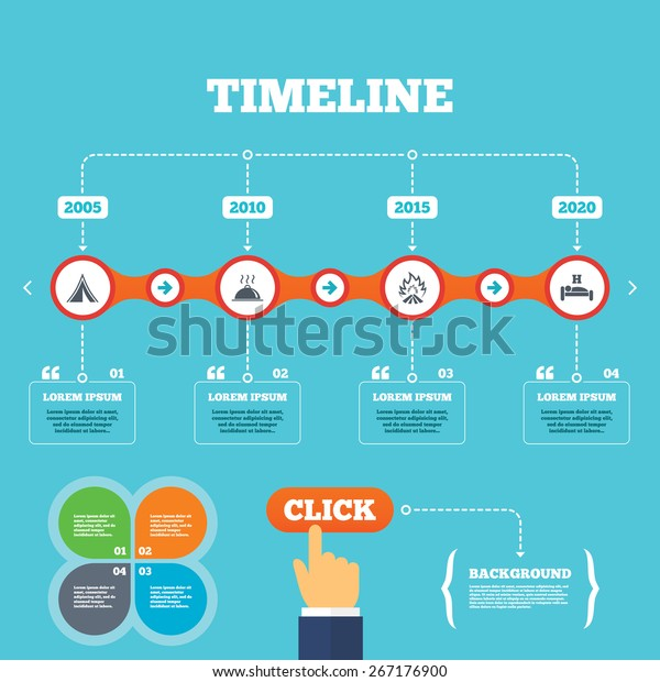 Timeline Arrows Quotes Hot Food Sleep Stock Vector (Royalty