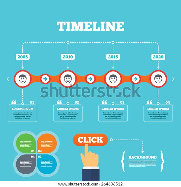 timeline arrows quotes human smile face stock vector royalty