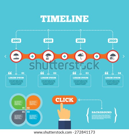Timeline Arrows Quotes Life Real Estate Stock Vector Royalty Free