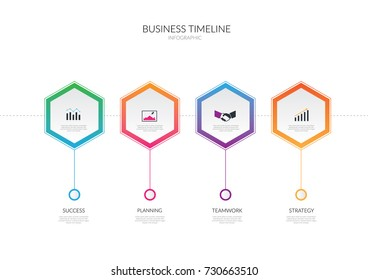 Timeline Business Vector illustration