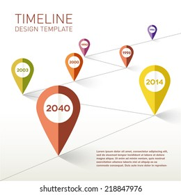 Timeline design template. Vector Illustration.