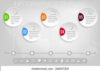Timeline and frames - modern infographic template