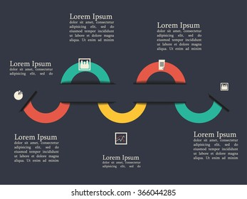 Timeline infografic, vector illustration. Business infografic.