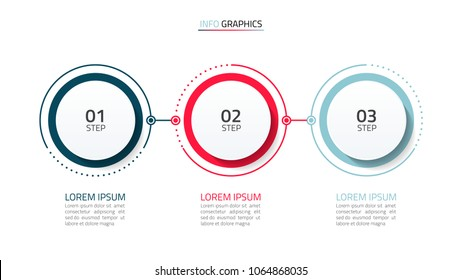 Timeline infographic design element and number options. Business concept with 3 steps. Can be used for workflow layout, diagram, annual report, web design. Vector business template for presentation.
