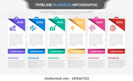 process flow  timeline infographic design vector and business icons  suitable for workflow layout, diagram, annual report