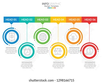 Timeline infographic design vector and marketing icons