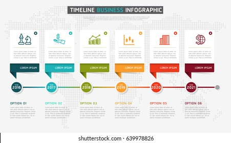 Timeline infographic design vector and marketing icons can be used for workflow layout, diagram, annual report. Vector infographics timeline design template with 3D paper label.