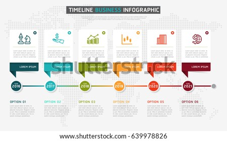 timeline infographic design vector marketing icons のベクター画像