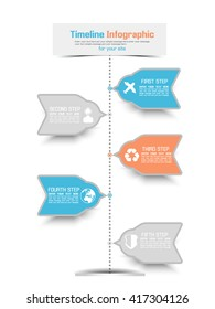 TIMELINE INFOGRAPHIC NEW STYLE 3 BLUE