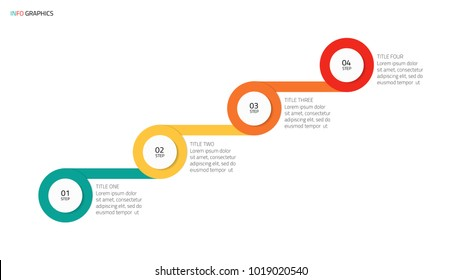 Timeline infographic template design with modern startup levels. Business concept with 4 steps or options. Vector illustration.