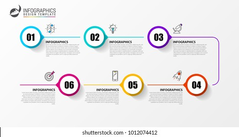 Timeline infographic template. Modern design for diagram. Vector illustration