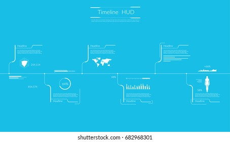 Timeline Infographic. Vector illustration