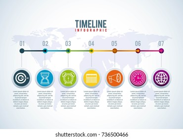 timeline infographic world business strategy planner connection