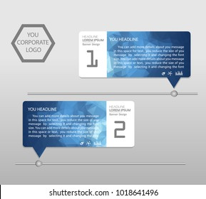 Timeline infographics banner. Template modern info graphic design, for business template, marketing, creative templates and graphics vector. Background.