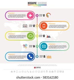 Timeline Infographics design template with icons set , Vector eps10.Elements of this image furnished by NASA