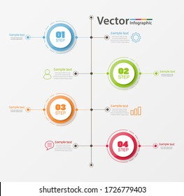 Timeline infographics design vector  concept with 4 options, steps or processes