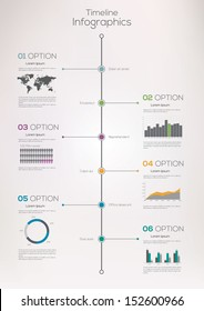 Timeline infographics, elements and icons. Vector