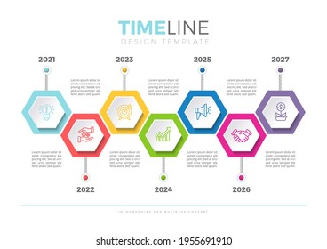 Timeline infographics icons for business data visualization.