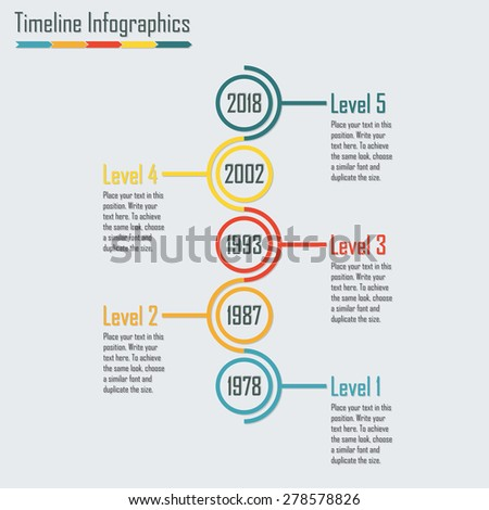 timeline infographics template isolated design elements stock vector
