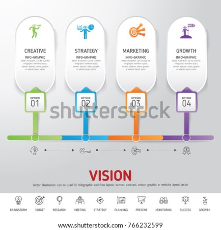 timeline infographics template modern info graphic stock vector