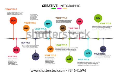 timeline infographics template vector infographics timeline の