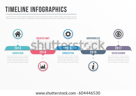 Timeline Infographics Template Workflow Process Infographics Stock - Workflow process template