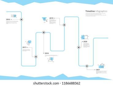 Timeline Infographics Vector Illustration