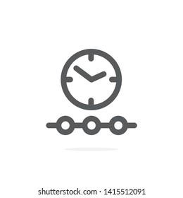 Timeline line icon on white background