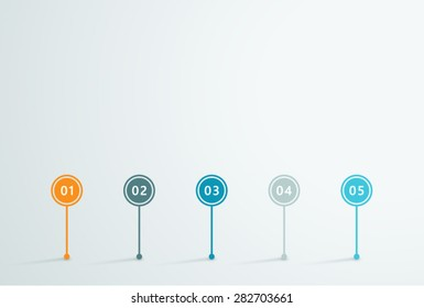 Timeline Vector 3d Infographic 1
