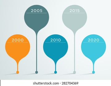 Timeline Vector 3d Infographic 3
