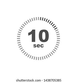 Timer 10 sec icon. Simple design