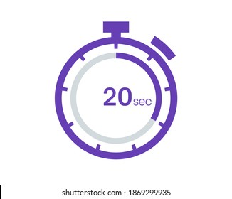 Timer 20 sec icon, 20 seconds digital timer. Clock and watch, timer, countdown