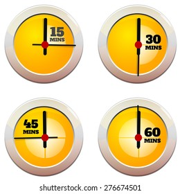 Timer 4 Icon set - Illustration