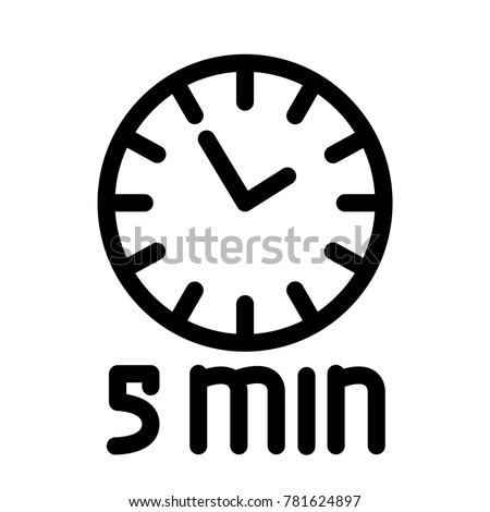timer 5 minutes stock vector royalty free 781624897 shutterstock