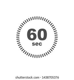 Timer 60 sec icon. Simple design
