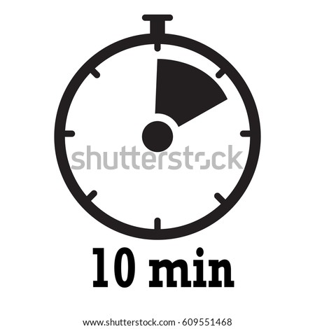 timer icon 10 minutes stopwatch symbol stock vector royalty free