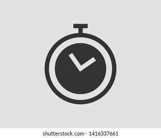 Timer icon. Stop watch vector pictogram. Stopwatch isolated on white background.