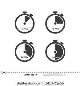 timer icon stopwatch symbol logo template design element