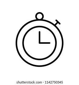 Timer icon vector icon. Simple element illustration. Timer symbol design. Can be used for web and mobile.