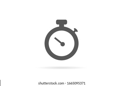Timer icon vector. Waiting, chronometer, Time stopwatch and Clock concept. Sign isolated on white background. Clock timer alert in Trendy Flat style for graphic design, Web site, UI. EPS10