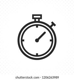 Timer line icon. Stopwatch icon, Chronometer thin line icon. Stopwatch and timer icon in linear style