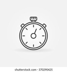 Timer line icon - vector outline timer or stopwatch symbol. Minimal sport competition sign