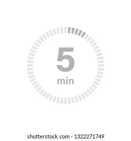 Timer sign 5 min